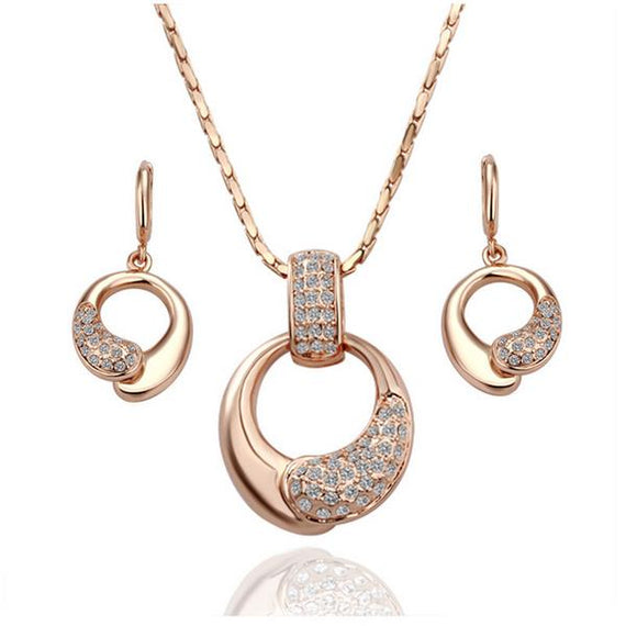 shiela-rose-gold-plated-necklace-and-earrings-set