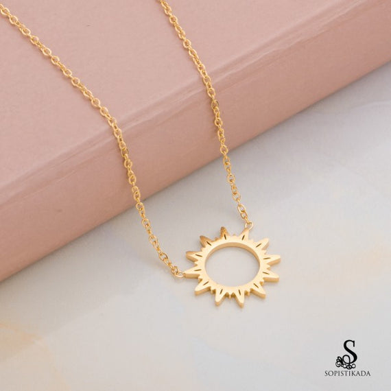coachella-sun-stainless-steel-gold-plated-double-layered-necklace