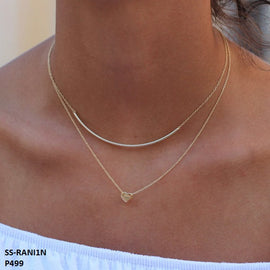 Rani Delicate Line Stainless Steel Gold Plated Necklace