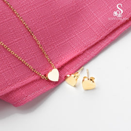 micah-heart-stainless-steel-gold-plated-set