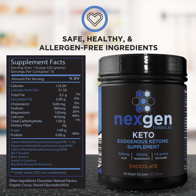 NexGen KETO Exogenous Ketone Supplement Powder (Pack of 4 at 17% discount)