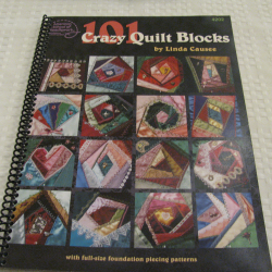 101 Crazy Quilt Blocks by Linda Causee (PB, 2001, spiral bound) | Books & More Bookstore