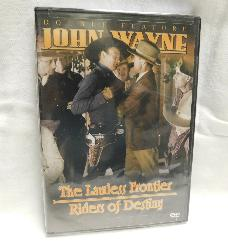 The Lawless Frontier/Riders of Destiny, John Wayne Double Feature (DVD, B & W) | Books & More Bookstore