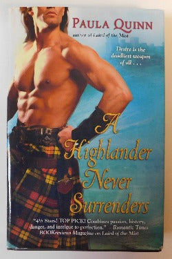 A Highlander Never Surrenders by Paula Quinn (HC, 2008) | Books & More Bookstore