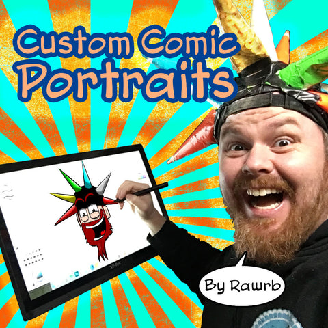 Custom Comic Portraits by Rawrb