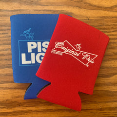 "Koozie - ""Original Piss"" and ""Piss Light"""