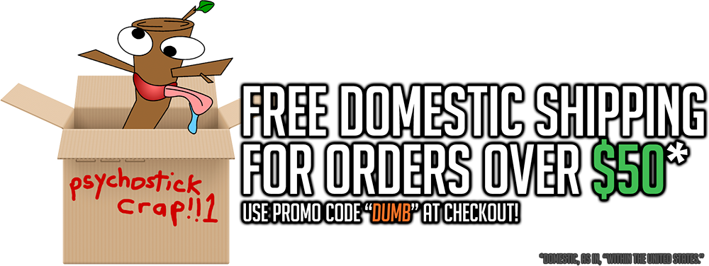 Free domestic shipping code!