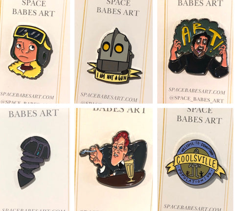 Iron Giant Kickstarter Pins