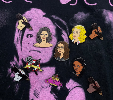 Buffy the Vampire Slayer Kickstarter Enamel Pins