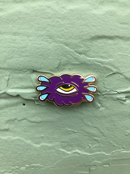 Crying Cloud Pin