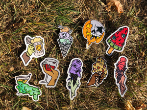 Spooky Treats Full Sticker Pack (9 stickers)