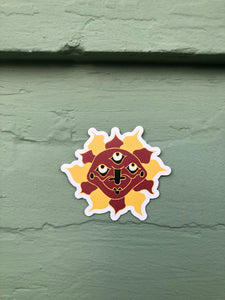 Three-Eyed Sun sticker