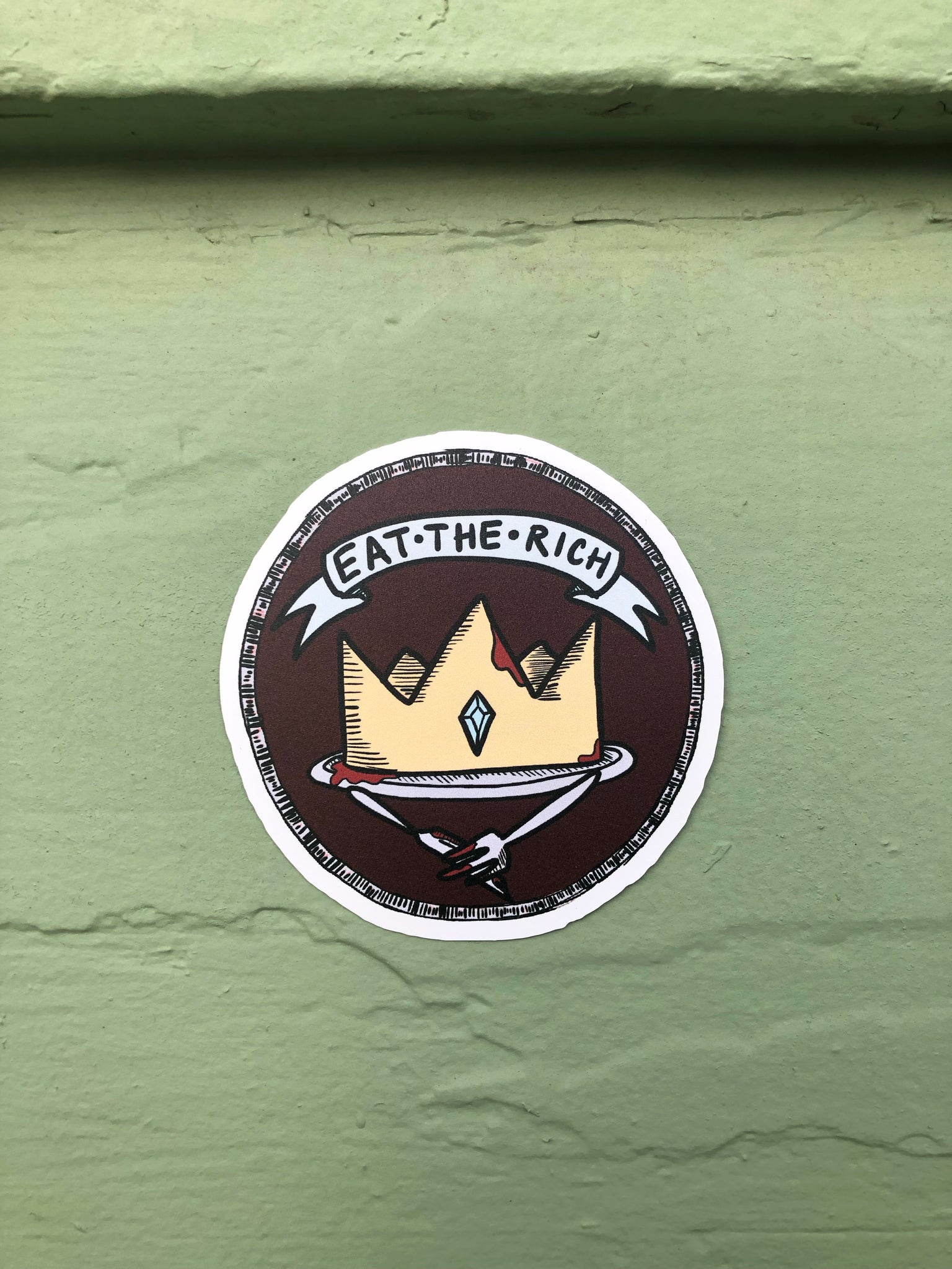 Eat the Rich sticker