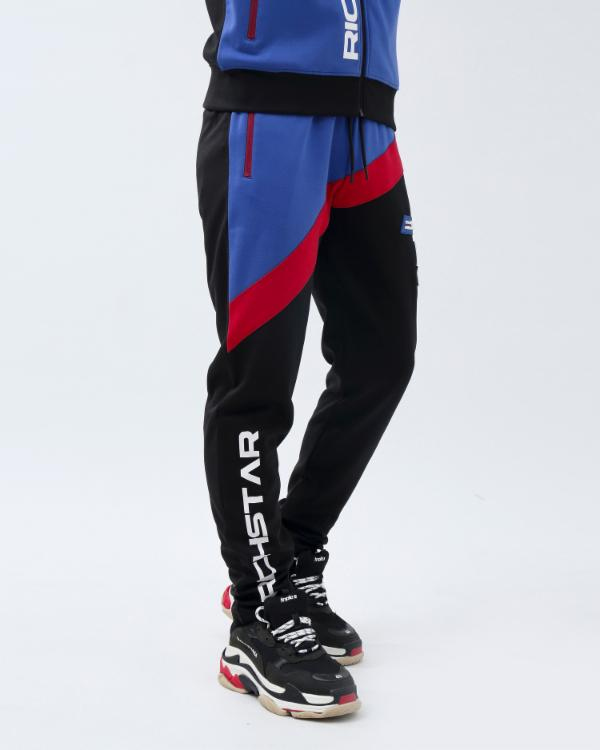 COLOR BLOCK TECH PANT-COLOR: ROYAL BLUE