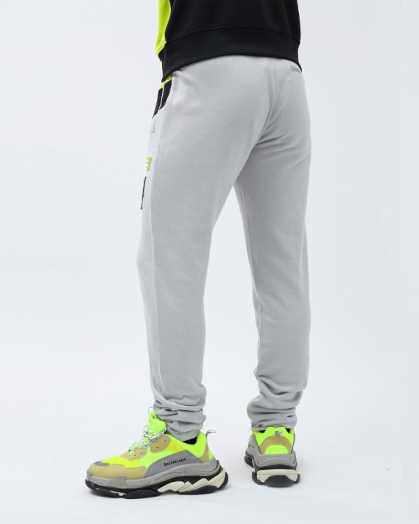 COLOR BLOCK TECH PANT-COLOR: YELLOW