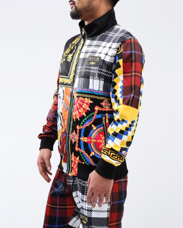 RS LUX COLLAGE TRACK JACKET - Color: Multi Color