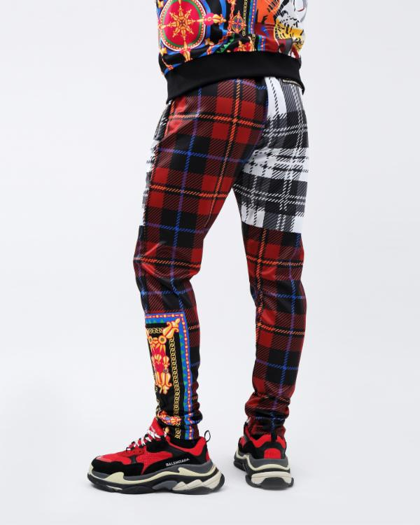 RS LUX COLLAGE TRACK PANT-COLOR: MULTI COLOR