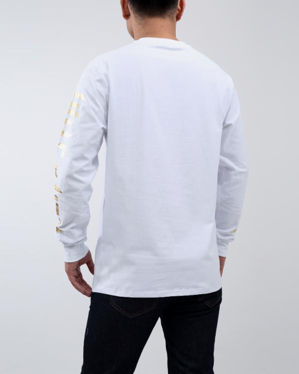 RICH BULLION LS TEE - COLOR: WHITE