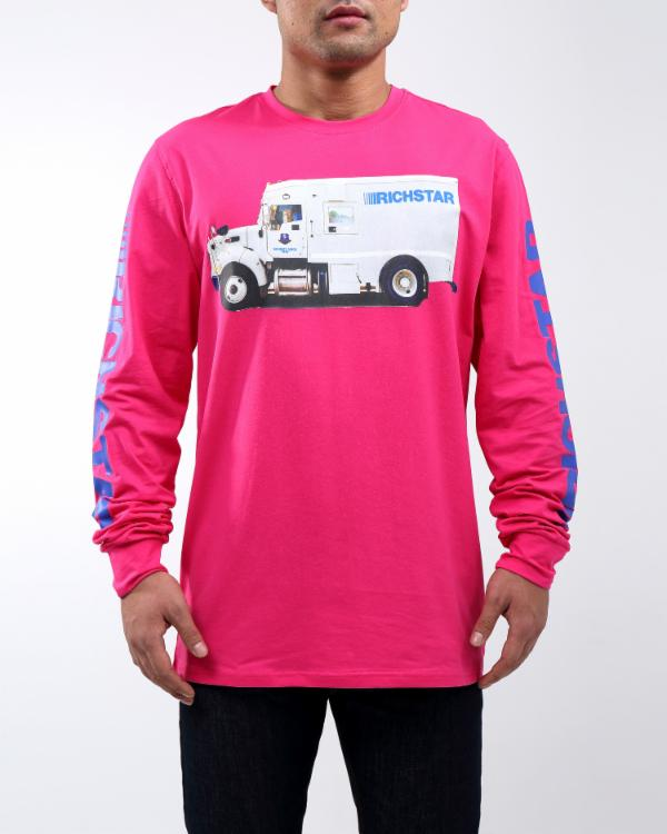 RICH TRUCK LS TEE - COLOR: PINK