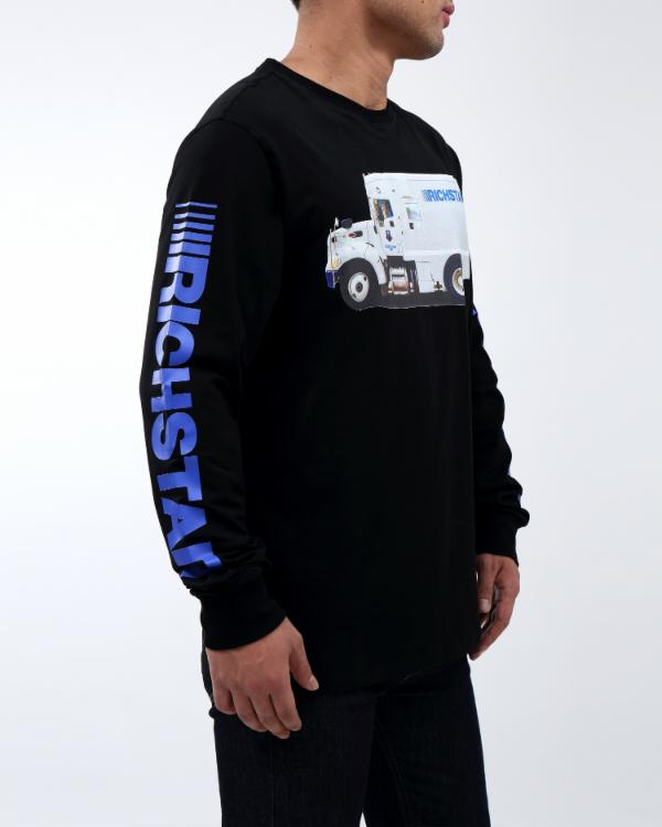 RICH TRUCK LS TEE - COLOR: BLACK