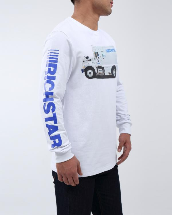 RICH TRUCK LS TEE - COLOR: WHITE