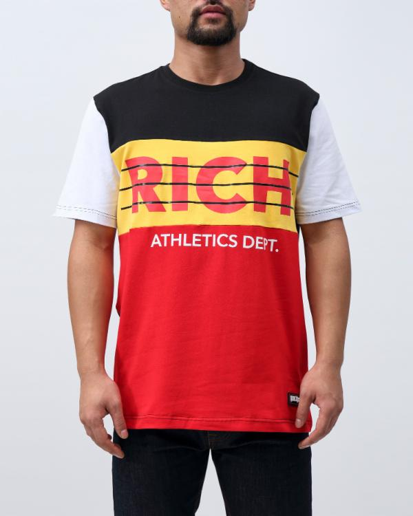 RICH ATHLETICS OG TEE-COLOR: BLACK