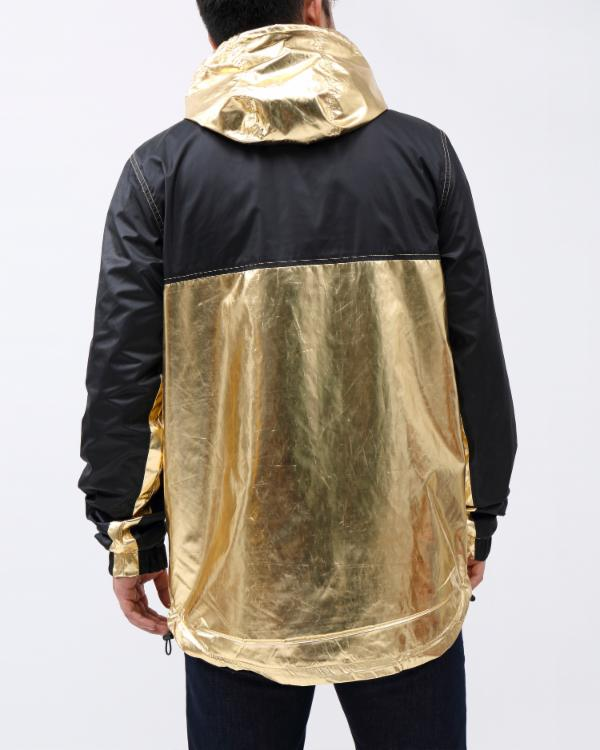 METALLIC PULLOVER JACKET-COLOR: GOLD