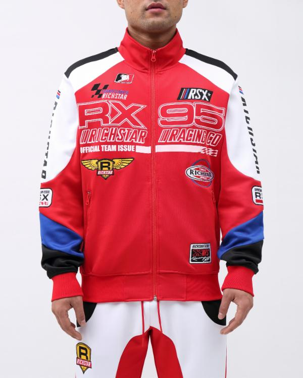 STAR MOTO RX95 TRACK JACKET-COLOR: RED