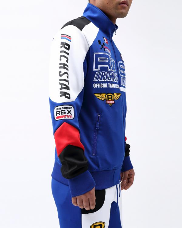 STAR MOTO RX95 TRACK JACKET-COLOR: ROYAL BLUE
