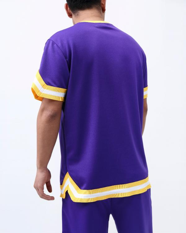 SNAKESKIN SHOOTING SHIRT-COLOR: PURPLE