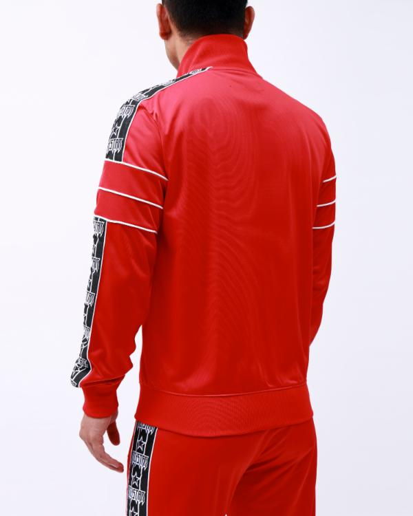 R STAR TAPE TRACK JACKET-COLOR: RED