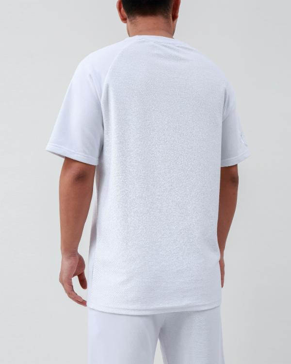 REVERSE TERRY SHIRT-COLOR: WHITE