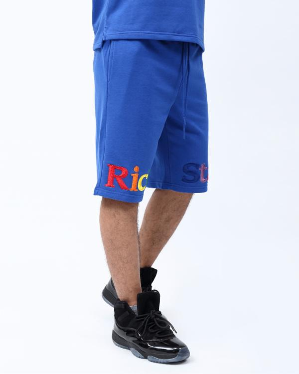 RAINBOW TYPE SHORT-COLOR: ROYAL BLUE