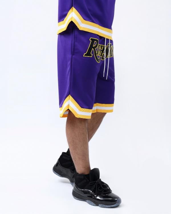SNAKESKIN BASKETBALL SHORT-COLOR: PURPLE