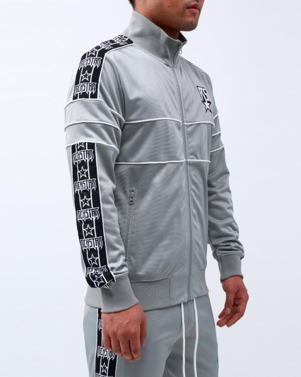 R STAR TAPE TRACK JACKET-COLOR: GRAY