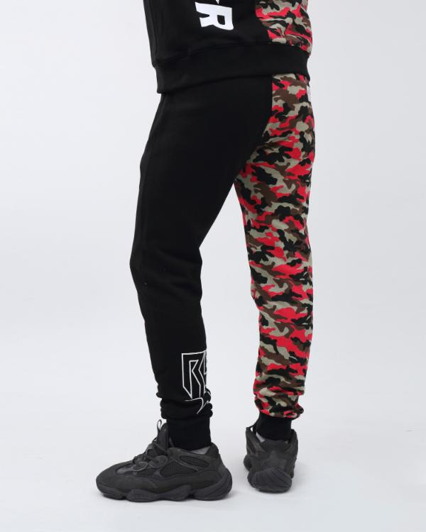CAMO SPLASH JOGGER-COLOR: RED