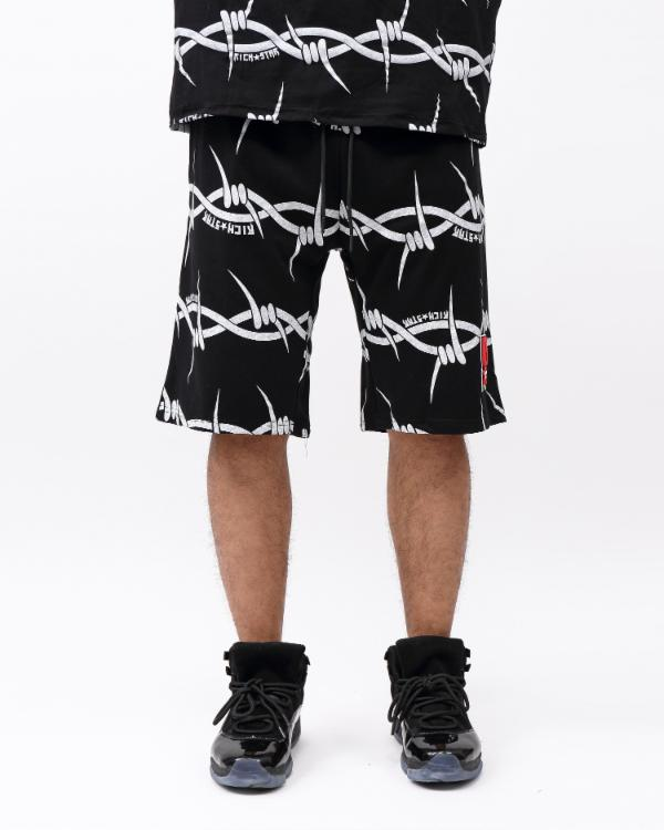 BARBED WIRE STRIPE SHORT