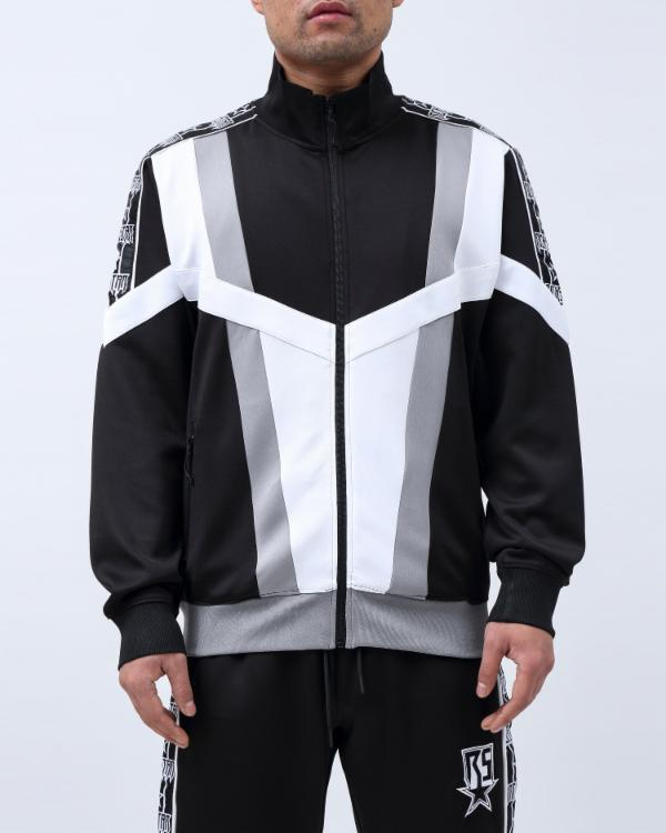 BIG TAPING BLOCKED TRACK JACKET