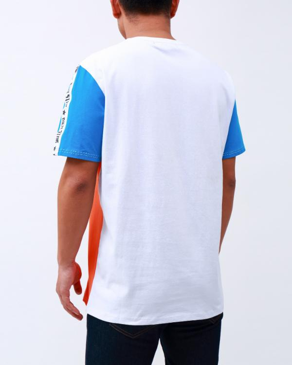DOUBLE LOGO TAPED SHIRT-COLOR: ORANGE