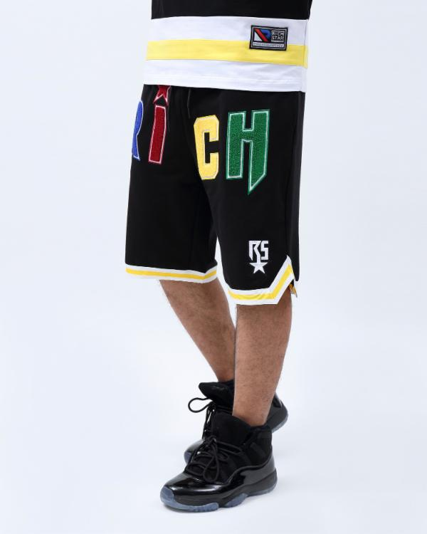 CHENILLE LETTERS SHORT-COLOR: BLACK