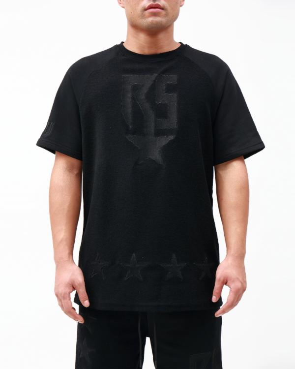 REVERSE TERRY SHIRT-COLOR: BLACK