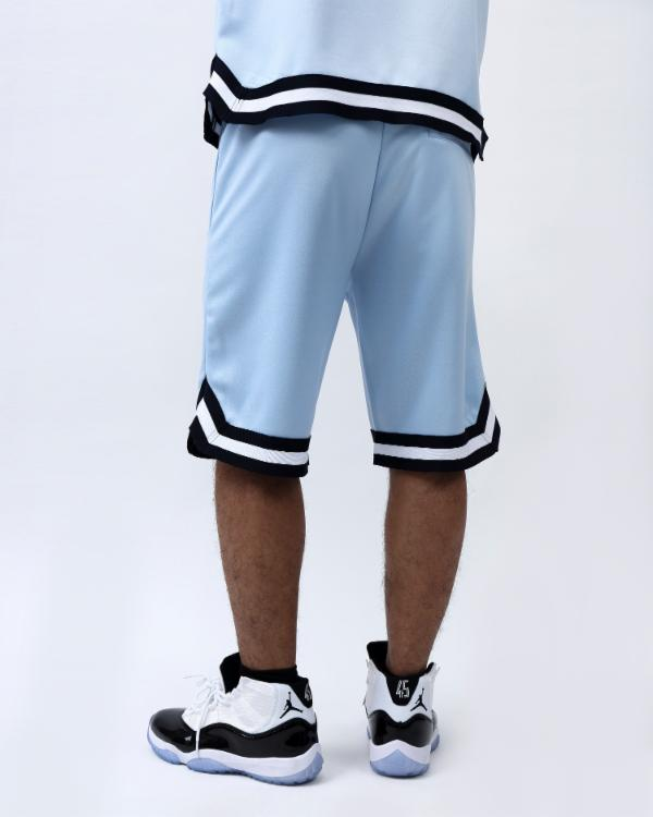 SNAKESKIN BASKETBALL SHORT-COLOR: LT BLUE