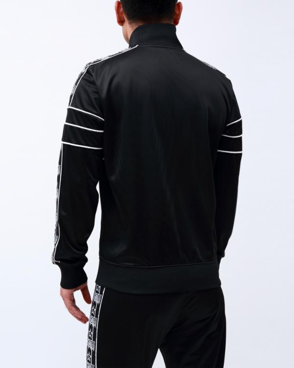 R STAR TAPE TRACK JACKET-COLOR: BLACK