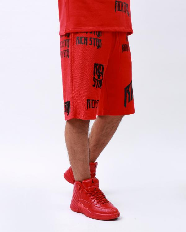 LOGO REPEAT SHORT-COLOR: RED