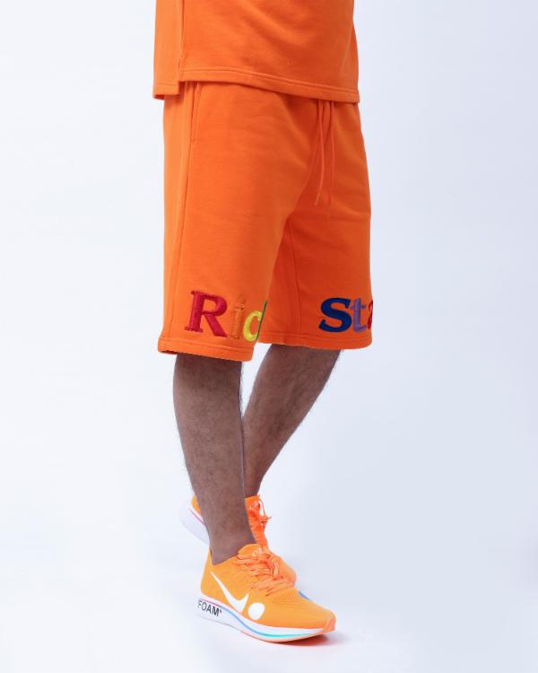 RAINBOW TYPE SHORT-COLOR: ORANGE