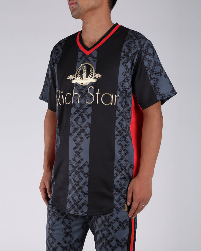 Rich Star Golden Baseball Jersey - Color: BLACK