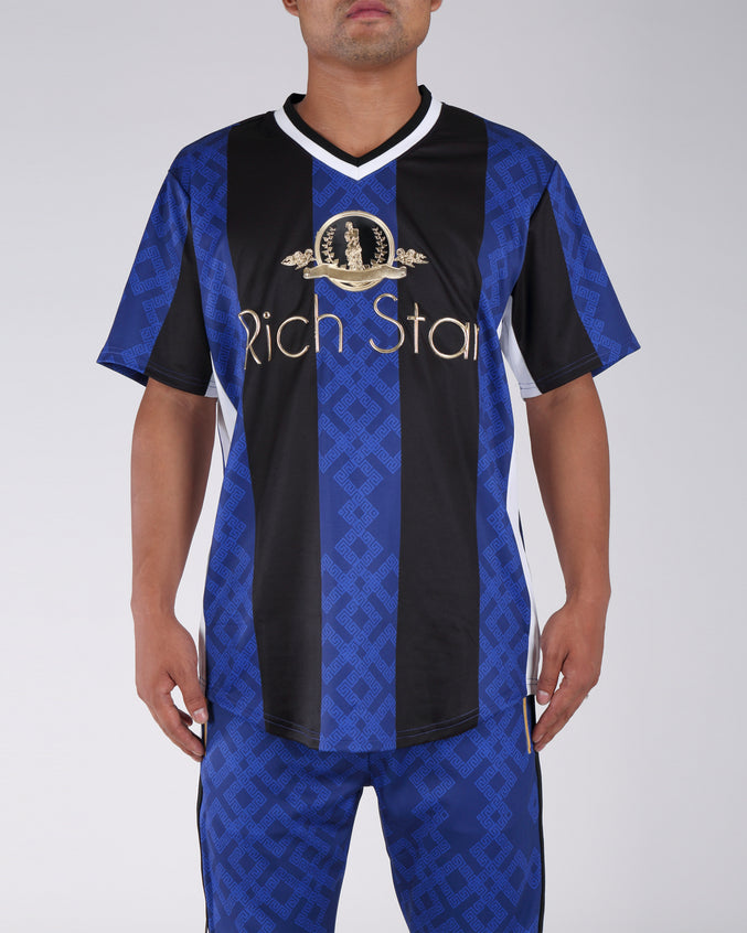Rich Star Golden Baseball Jersey - Color: BLUE