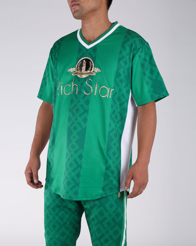 Rich Star Golden Baseball Jersey - Color: GREEN
