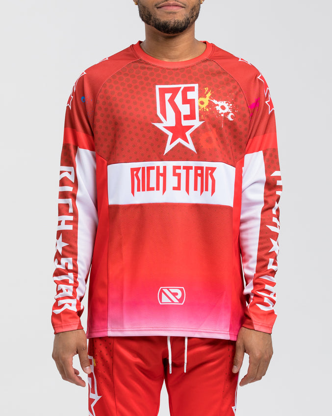Moto Paintball LS Shirt - Color: RED | Red