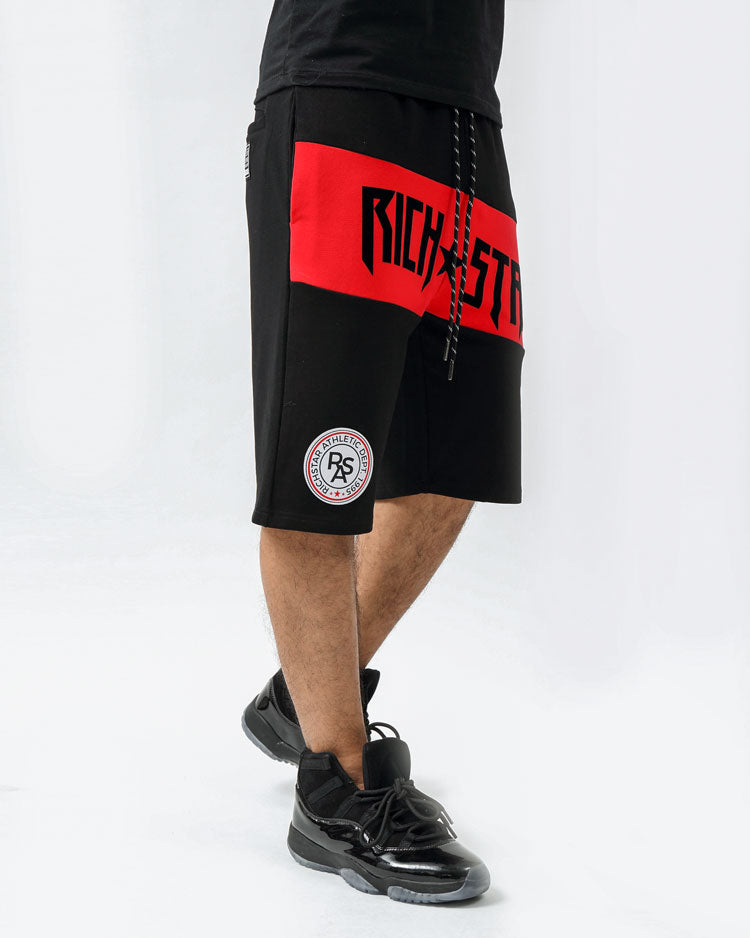 MOSTER SPORT SHORTS-COLOR: BLACK